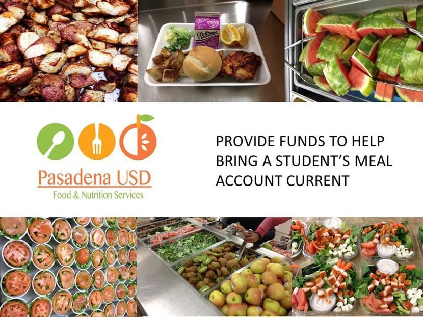Help Keep Student Meal Accounts Current